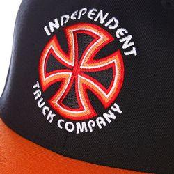 Бейсболка Flexfit Bauhaus Cross Flexfit Black/Orange Independent                                                                                                              оранжевый цвет