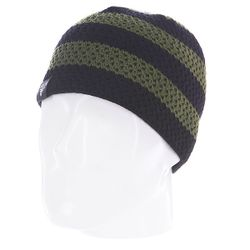 Шапка Buffalo Striped Knits Beanie Olive/Black Fallen                                                                                                              черный цвет