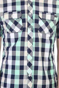Рубашка В Клетку Mercury Ss Seafoam Zoo York                                                                                                              синий цвет
