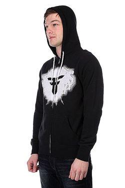 Толстовка Классическая Eletric Feel Zip Hood Black/Charcoal Fallen                                                                                                              черный цвет