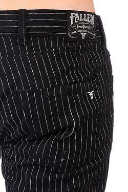 Штаны Прямые Thomas Signature B/W Pinstripe Fallen                                                                                                              черный цвет