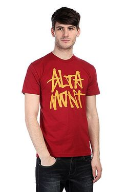 Футболка Stackedbasic Tee Oxblood Altamont                                                                                                              красный цвет