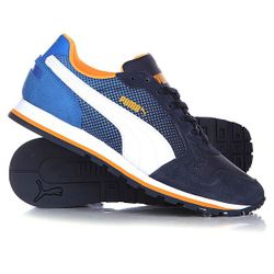 Кеды Кроссовки St Runner Shades Peacoat/White/Strong Bl Puma                                                                                                              синий цвет