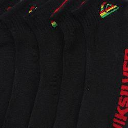 Носки Средние 3pk Rasta Black/Mixed Logo Quiksilver                                                                                                              желтый цвет