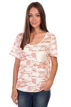 Футболка Женская Royal Palms New Islands Aur Roxy                                                                                                              розовый цвет