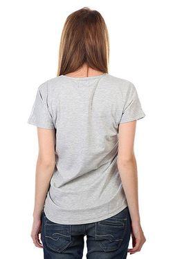 Футболка Женская Holk Top Grey Melange Clwr                                                                                                              серый цвет