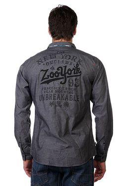 Рубашка Enew15 Outlaw Black Chambray Zoo York                                                                                                              серый цвет