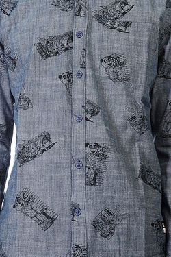 Рубашка Dc Cliver Woven Skateboarding Print Dcshoes                                                                                                              синий цвет