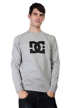 Свитшот Ellis Crew Heather Grey Dcshoes                                                                                                              серый цвет