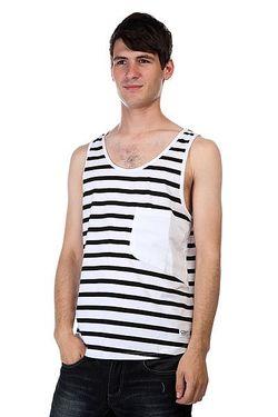 Майка Cut Tank Black Stripe Clwr                                                                                                              черный цвет