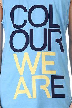 Майка We Are Tank Pale Blue Melange Clwr                                                                                                              голубой цвет
