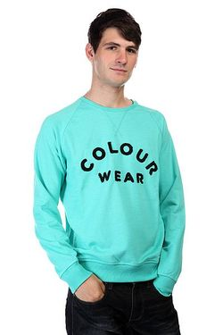 Толстовка Colour Crew Florida Green Melange Clwr                                                                                                              зелёный цвет
