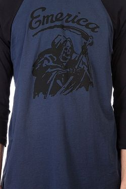 Лонгслив Reaper Raglan Black/Navy Emerica                                                                                                              синий цвет