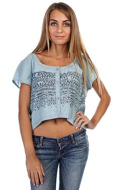 Топ Женский West Crescent Shirt Mid Blue Insight                                                                                                              голубой цвет