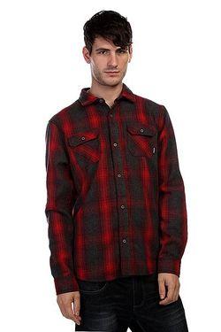 Рубашка Утепленная Southgate Shirt Burgundy Nixon                                                                                                              красный цвет
