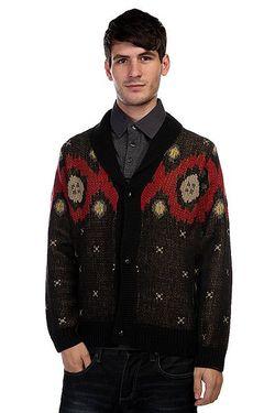 Кардиган Campfire Cardigan Sweater Black Nixon                                                                                                              черный цвет