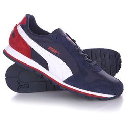 Кроссовки St Runner Nl Peacoat/White/Rio Red Puma                                                                                                              синий цвет
