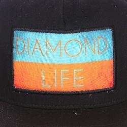 Бейсболка С Прямым Козырьком Life Flag Black Diamond                                                                                                              черный цвет
