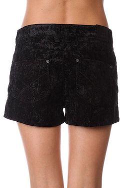 Шорты Классические Женские Floral Velvet Shorts Black Insight                                                                                                              чёрный цвет