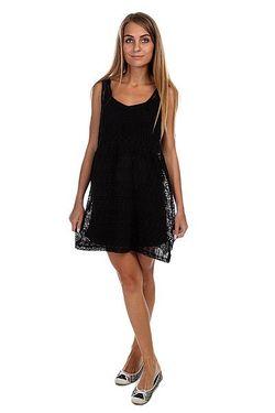Платье Женское Fingers Crossed Dr Black Vans                                                                                                              чёрный цвет