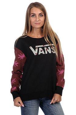 Толстовка Женская Yesterday S End Cr Black Vans                                                                                                              черный цвет