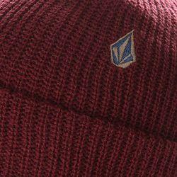 Шапка Носок Cuff Beanie Burgundy Volcom                                                                                                              красный цвет