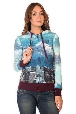 Толстовка Классическая Женская City Scribble Potent Purple Zoo York                                                                                                              синий цвет