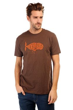 Футболка Whale Coffee Dekline                                                                                                              коричневый цвет