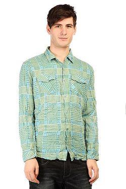 Рубашка В Клетку Fred Sonic Weed Green Insight                                                                                                              голубой цвет