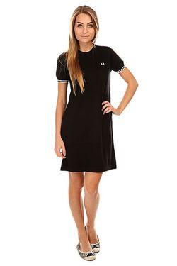 Платье Женское Knitted Dress Black Fred Perry                                                                                                              черный цвет