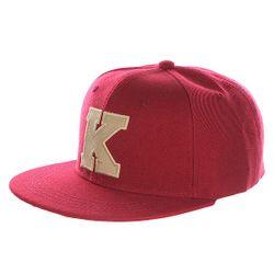 Бейсболка С Прямым Козырьком Abc Bordo K Truespin                                                                                                              красный цвет
