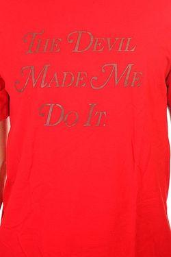 Футболка Devil Made Me Do It Tee Emerica                                                                                                              красный цвет