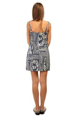 Платье Женское Bandana Dress Indigo Paisley Insight                                                                                                              синий цвет