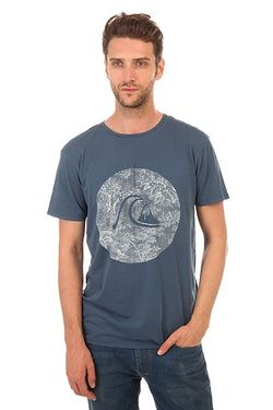 Футболка Gardyedsssunset Tees Dark Denim Quiksilver                                                                                                              синий цвет