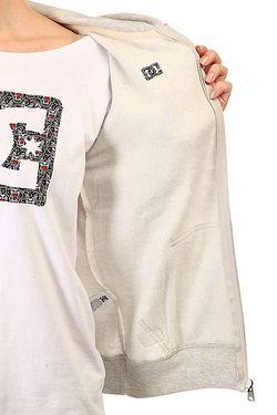 Толстовка Классическая Женская Dc Rebel Star Zh Dcshoes                                                                                                              серый цвет