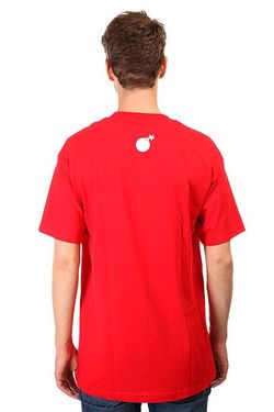 Футболка Forever Half Bomb T-Shirt Red The Hundreds                                                                                                              красный цвет