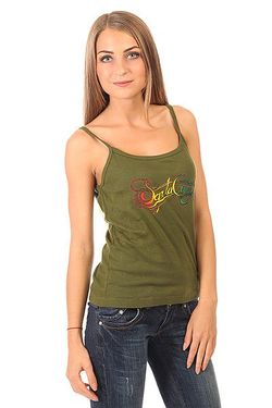 Майка Женская Signature String Olive Santa Cruz                                                                                                              зелёный цвет