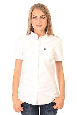 Рубашка Женская Basket Weave Shirt White Fred Perry                                                                                                              белый цвет