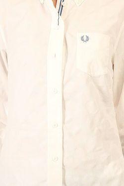 Рубашка Женская Tonal Dot Tipped Shirt White Fred Perry                                                                                                              белый цвет