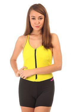 Комбинезон Для Фитнеса Женский Nz Ziper Yellow/Black CajuBrasil                                                                                                              желтый цвет