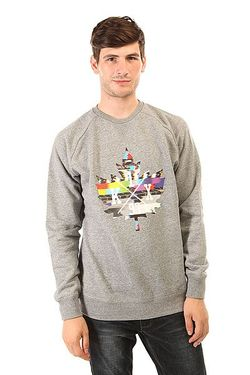 Толстовка Свитшот Glitch Logo Crewneck Grey K1X                                                                                                              серый цвет