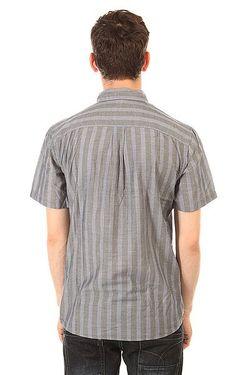 Рубашка Barson Woven Blue/Slate Brixton                                                                                                              голубой цвет