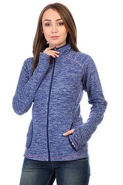 Толстовка Сноубордическая Женская Harmony Blue Print Roxy                                                                                                              синий цвет