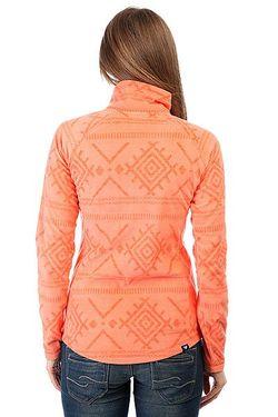 Толстовка Кенгуру Женская Cascade Windy Road Layers Roxy                                                                                                              оранжевый цвет