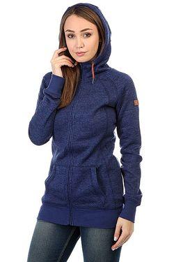 Толстовка Классическая Женская Resin Knit Print Roxy                                                                                                              синий цвет
