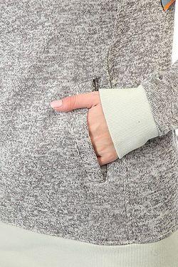 Толстовка Кенгуру Женская Dipsy Egret Roxy                                                                                                              серый цвет