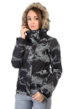Куртка Jet Ski Cloudofdots True Bla Roxy                                                                                                              чёрный цвет
