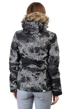 Куртка Женская Jet Ski Cloudofdots True Bla Roxy                                                                                                              черный цвет