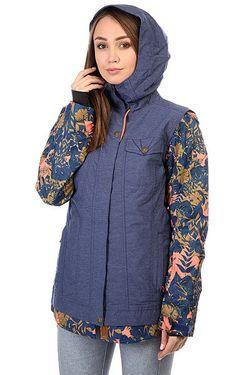 Куртка Женская Ceder Blue Print Roxy                                                                                                              синий цвет