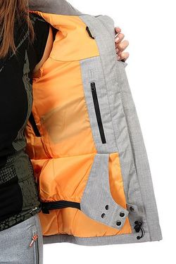 Куртка Женская Wildlife Mid Heather Roxy                                                                                                              черный цвет